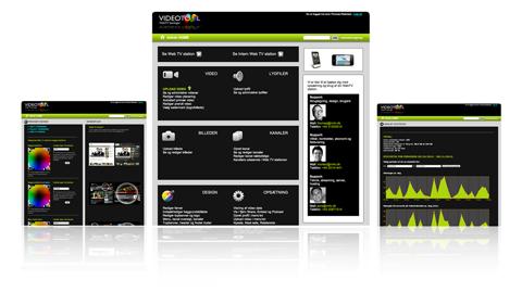 Udvikler visual Admin home